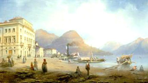La storia di Lugano e del suo lago contorniato da case e appartamenti d'epoca