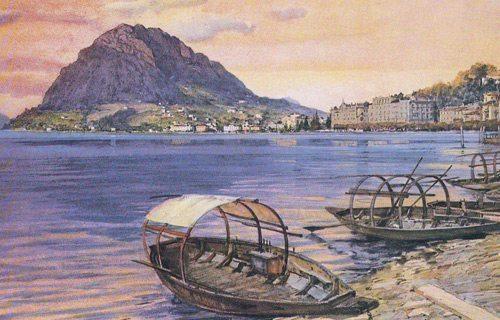 Old boats on Lake Lugano