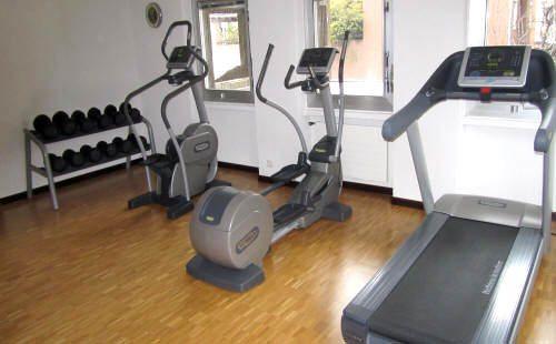 centro fitness degli appartamenti in affitto a Lugano nel residence La Residenza