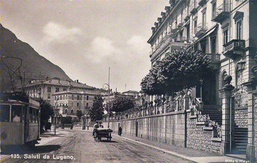 Lungolago di Lugano presso hotel Splendide Royal, dieci minuti a piedi dal nostro residence, sempre sulle rive.