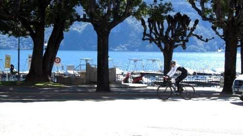 Dai nostri appartamenti e monolocali in affitto è possibile girare Lugano direttamente in bicicletta