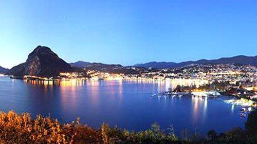 Lugano vista e fotografata da un appartamento sul lago