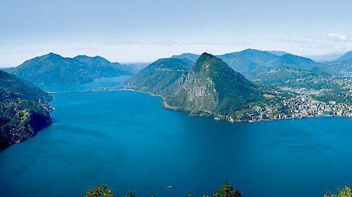 Casa con vista panoramica mozzafiato sul lago di Lugano